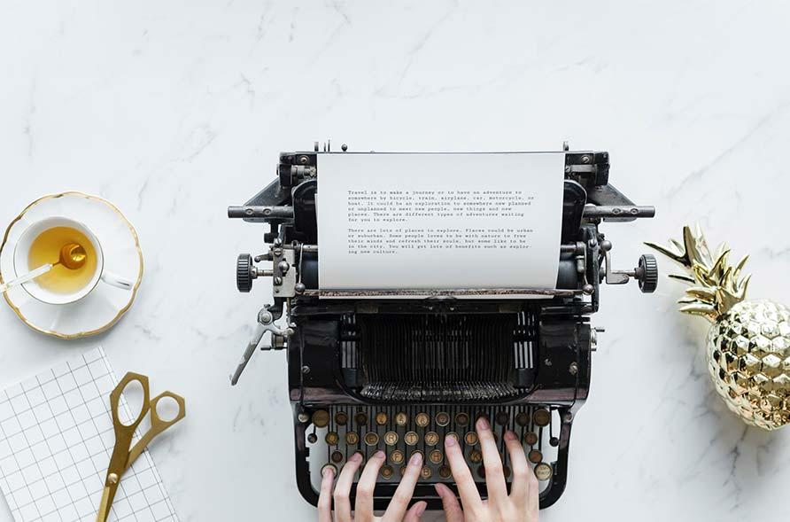 creazione testi macchina da scrivere