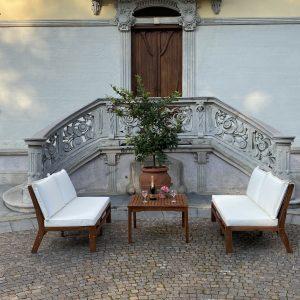 divanetti con tavolino legno